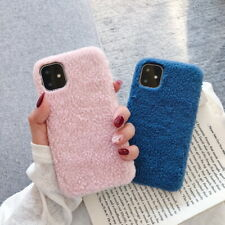 Fashion Pure Furry Plush Hard Case Cover For iPhone 11 Pro Max XS XR X 8 7 6s 6