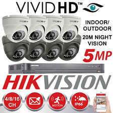 HIKVISION 5MP CCTV SYSTEM 4CH 8CH 16CH DVR 4K UHD 20M NIGHT VISION DOME CAMERAS