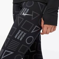 NIKE POWER EPIC LUX REFLECTIVE FLASH PRINT RUNNING TIGHTS -BLACK AH6849-010 XS S