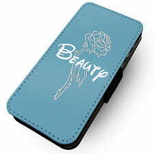 Beauty Rose (Blue) Printed Faux Leather Flip Phone Cover Case #2