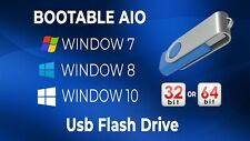 3-in-1 Windows 7,8,10 32/64-bit All Versions Install Reinstall Recovery USB