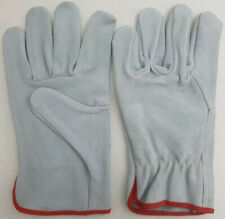 12 Pairs of High Quality Cowhide Leather Driver Gloves / Work & safety Gloves