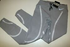 NIKE POWER EPIC LUX TIGHT FIT RUNNING GRAPHIC TIGHTS - GREY AH6090-027 - XS L