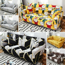 1 2 3 4 Seater Stretch Elastic Sofa Covers Slipcover Long Couch Cover Protector