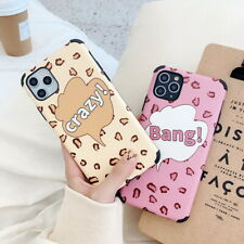 For iPhone 11 Pro Max XS XR X 8 7 Fashion Cute Frosted Leopard Hard Case Cover