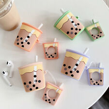 3D Cute Milk Tea Silicone Protective Earphone Skin Cover For Apple AirPods Case