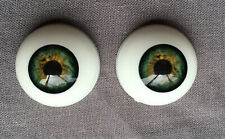 24mm FLAT BACK Glass Eyes REBORN//OOAK Baby DOLLS~Reborn Supplies~LIGHT BLUE