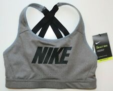 NIKE IMPACT WOMEN HIGH SUPPORT CROSSED STRAPS TRAINING BRA - GREY BV3920-091 - S