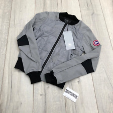 Womens Grey Canada Goose Hanley Quilted Jacket