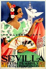 1929 Exposition Seville Spain Vintage Style Spanish Travel Poster 20x28