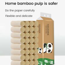 16/32/48/64Rolls Toilet Paper Thickened Household Roll Paper Bamboo Pulp