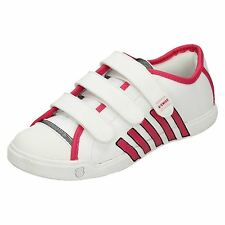CHILDS K-SWISS WHITE  LEATHER TRAINER  STYLE -  MOULTON STRAP  81865111
