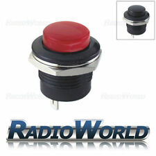 Push Button Switch 3A 250V Off - (On) 1 Circuit Momentary SPST Car Dash Mount