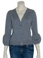 Gilet Cardigan Pull Femme Gris Laine Womens Sweater T-36 S,38 M,40 L P0002G Neuf