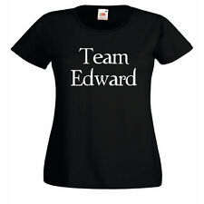 Team Edward Ladies Fitted Black T-Shirt BNWT Twilight inspired dawn new moon