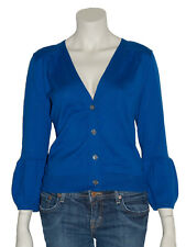 Gilet Cardigan Pull Bleu Femme 100% Coton Taille - S  M  L (P0002BE) - Neuf New