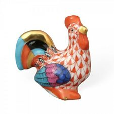 Herend Porcelain - Miniature Rooster Fishnet Figurine