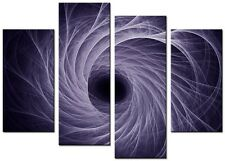 SCROLL Purple Large  wall art canvas print artwork home living room kitchen