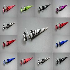 Fake Marble Cheater Stretchers Tapers Ear Plugs Earrings available in 7 colours