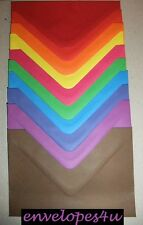 High Quality Coloured C6 Envelopes for A6 Cards 100gsm Diamond Flap Best Value