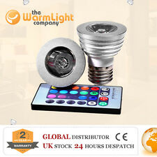 HI END 3W E27 Remote Controlled LED RGB Color Changing Spotlight Light Bulbs