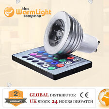 HI END 3W GU10 Remote Controlled LED RGB Color Changing Spotlight Light Bulbs