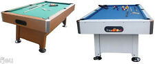 Billard Americain table XP1 Brun tapis vert ou blanc tapis bleu 7ft