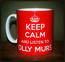 NEW KEEP CALM AND LISTEN TO OLLY MURS GIFT MUG CARRY ON COOL BRITANNIA RETRO