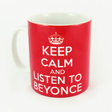 NEW KEEP CALM AND LISTEN TO BEYONCE GIFT MUG CARRY ON COOL BRITANNIA RETRO