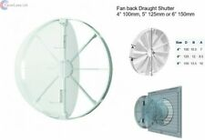 """4"""" 100mm, 5"""" 125mm, 6"""" 150mm in-line extractor fan vent back draught shutter"""