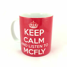 NEW KEEP CALM AND LISTEN TO MCFLY GIFT MUG CARRY ON COOL BRITANNIA RETRO CUP
