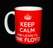KEEP CALM AND LISTEN TO PINK FLOYD GIFT MUG CARRY ON COOL BRITANNIA RETRO CUP