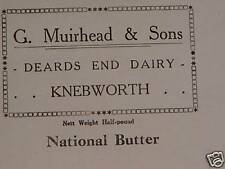 Vintage National Butter & Margarine Wrappers Deards End Dairy Knebworth