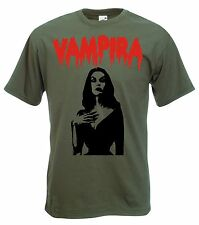 Vampira Logo T-Shirt - Horror Movie Icon, 50's Cult, Camp, Goth, Emo, All Sizes