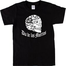 Dia De Los Muertos Mexican Skull T-Shirt - Day Of The Dead, Goth, Rock All Sizes