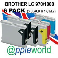 6 PACK Ink Cartridges compatible with LC970 /LC1000 [not Brother original]