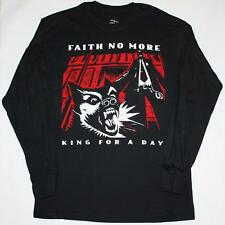FAITH NO MORE KING FOR A DAY'95 MIKE PATTON NEW BLACK LONG SLEEVE T-SHIRT