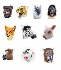 #ANIMALS NATURE #RUBBER OVERHEAD MASK LION COW ZEBRA HORSE OWL CAMEL FANCY DRESS