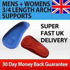 HIGH QUALITY 3/4 LENGTH ORTHOTIC ARCH SUPPORT INSOLES HIGH ARCH SPORT COMFORT