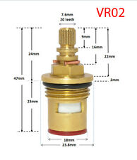 """Replacement ceramic disc tap cartridges valves hot cold 1/2"""" ~ 20 teeth ~ 47mm"""