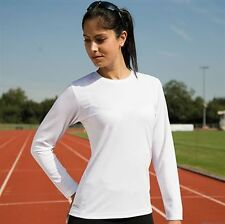 Spiro Quick-Dry Long Sleeve Ladies T-Shirt All Sizes