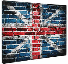 Abstract Grunge Union Jack Flag Canvas Print Wall Art Picture a1 a2