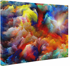 Abstract Rainbow Colors Canvas Print Wall Art Large or Small Picture