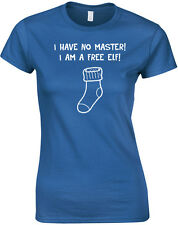 I Have No Master, Free Elf, Harry Potter inspired Ladies' Printed T-Shirt