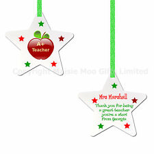 Personalised Teaching Teaching Assistant Star Thank You Hanging Plaque Sign Gift