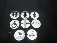 STAINLESS STEEL TOILETS PUB SHOP SCHOOLS HOTELS BUSINESS SIGNS SIGN NOTICE PLATE