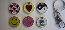 Various Shopping Trolley Pound Coin Keyring - Smiley, Heart, Born to Shop