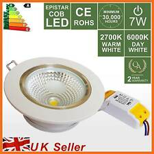High Power 7W LED Recessed Ceiling Spot Down Light,Warm/Day White Downlight Lamp