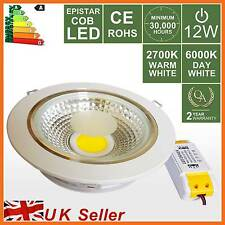 Highpower 12W LED Recessed Ceiling Spot Down Light,Warm/Day White Downlight Lamp