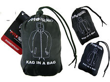 Unisex Lightweight Compact Kagool Kagoul Rain Coat Jacket Mac In a Bag. RRP £10!